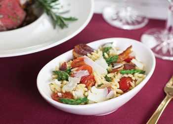Recipe Asiago and Bacon Orzo Medley