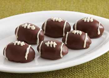 Recipe Chocolate Raspberry Football Cookie Truffles