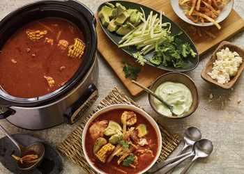 Recipe Puebla Hot-Pot Broth with Avocado Crema