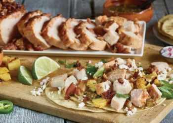 Recipe Tomatillo, Pineapple and Bacon Pork Tacos