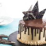 9 Chocolate Vertical Layer Cake