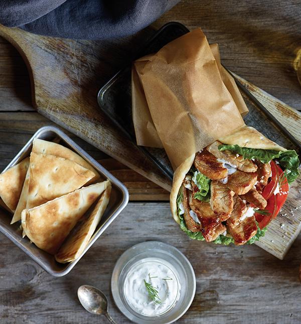 480 Recipe Pork Gyros with Fresh Tzatziki