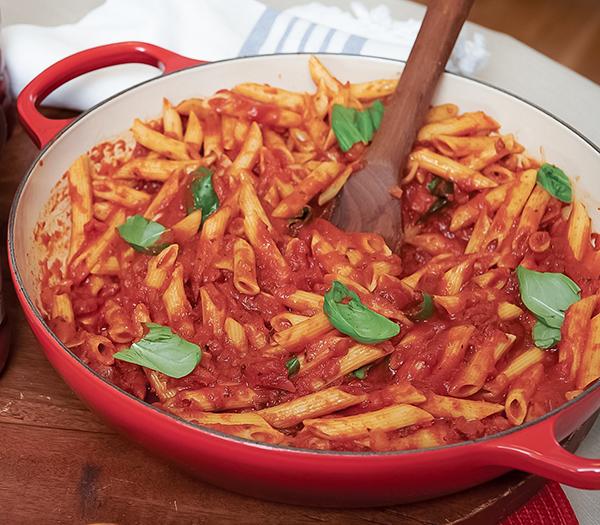 500 Recipe Quinoa Penne with Savory Tomato-Basil Sauce