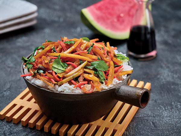 1109 Recipe Watermelon Rind Stir-Fry