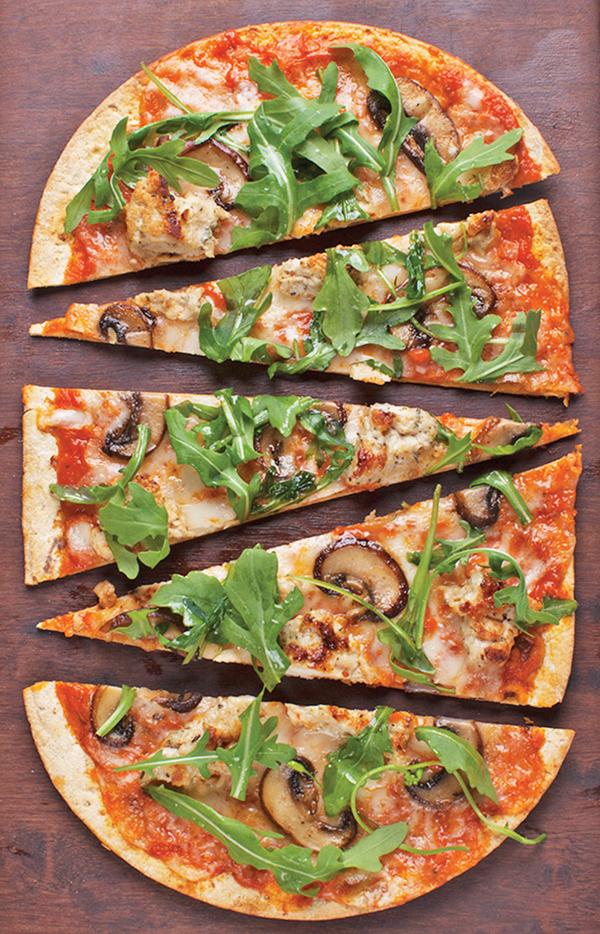 1197 Recipe Arugula Mushroom Flatbread Pizza