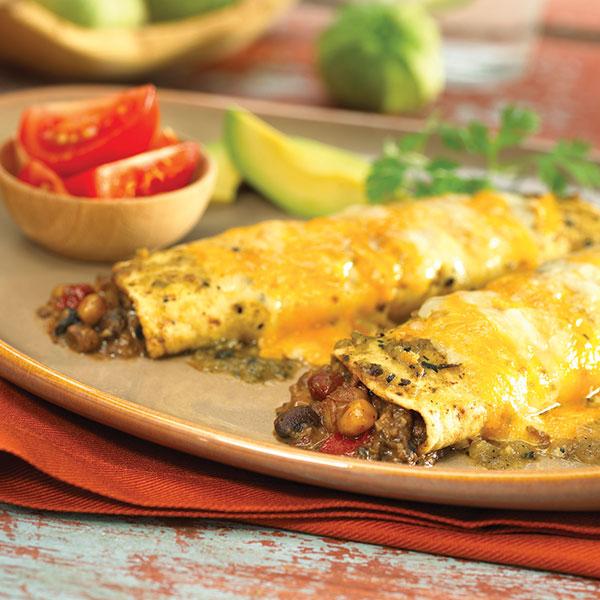 1229 Recipe Salsa Verde Bean Enchiladas