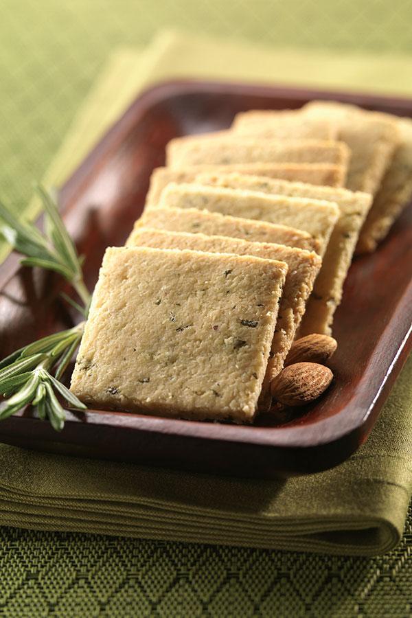 1232 Recipe Rosemary Almond Crackers