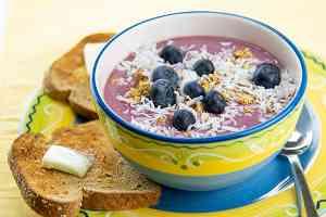1432 Recipe Acai Bowl with Whole-Wheat Toast