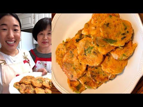 Mung Bean Pancakes (Nokdu Bindaetteok) | An Irresistible & Savory Dish | Homeschool w/ Everyday Food